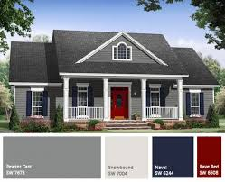 white house with black trim exterior choosing paint colors
