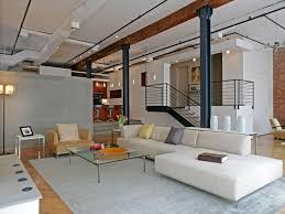 super modern loft interior design with nice unique modern sofa
