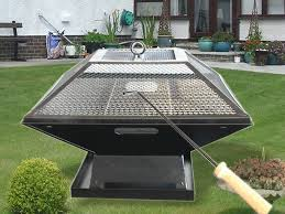 Patio Heater Covers by Outdoor Garden Fire Pit Firepit Brazier Burner Square Stove With