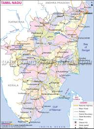 India Map With States by Tamil Nadu Map State District Information And Facts