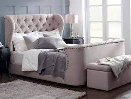 Upholstered Footboard Wingback Upholstered Headboard Home Design Ideas