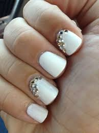 14 white and rhinestone nail design images nail designs with