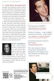 jfk jr george u0026 me a memoir matt berman 9781451697261