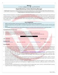 digital resume format fresh digital marketing sample resumes
