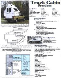 info regarding the a frame folding camp trailer on a pickup bed