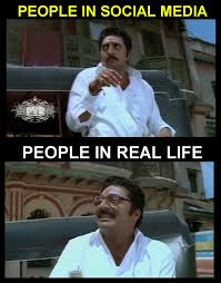 Social Media Meme - meme 376 social media vs real life pvr memes