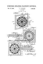 dart board patent 1936 patent print wall decor game art game