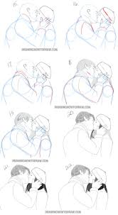 drawn kisses lovely pencil and in color drawn kisses lovely