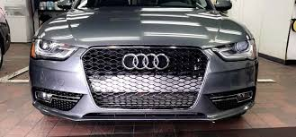 audi aftermarket grill put the rs4 grille kit on my 2013 a4 anyone a way to hide