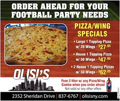needs pizza ahead for your football party needs olisi s new york style pizza