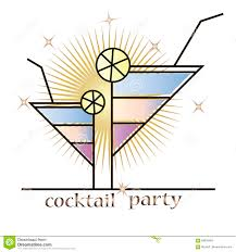 cocktail party stock vector image 69628483