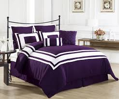 bedroom dark plum ruffle comforter set combined rounded white