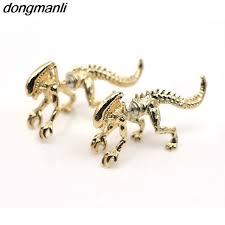 dinosaur earrings online shop p1193 dongmanli 3d scary stud earring