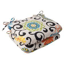 Summer Chair Cushions Amazon Com Indoor Outdoor Pom Pom Play Rounded Seat Cushion