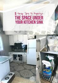 Under Kitchen Sink Organizer by 5 Easy Tips To Organize The Space Under Your Kitchen Sink