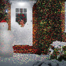 Christmas Outdoor Light Projector by Star Shower Motion Projected Outdoor And Indoor Christmas Lights