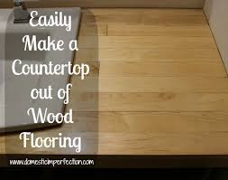 bathroom remodel build a counter out of wood flooring domestic