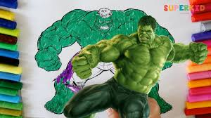 coloring incredible hulk avengers coloring pages for kids youtube
