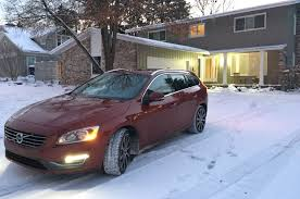 lexus hybrid in snow 2015 volvo v60 t5 first time in snow