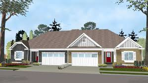 multi family home design plan 62562dj easy to build duplex house plan duplex house plans