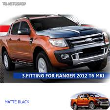 ford ranger 2015 matte black hood scoop bonnet raptor cover fit ford ranger ute px