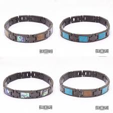 black stainless bracelet images New ion plated black stainless steel bracelet with hawaiian koa jpg
