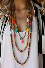 bead necklace style images 15 ways to wear layered necklace like a pro jpg