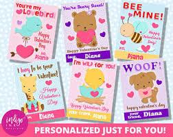 kid valentines personalized valentines day card kids valentines