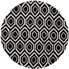 Black Circle Rug Safavieh Chatham Dark Blue Ivory 7 Ft X 7 Ft Round Area Rug