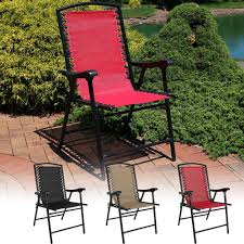 Patio Folding Chair Sunnydaze Mesh Outdoor Suspension Folding Patio Lounge Chair