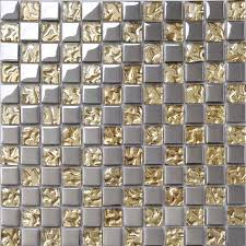 glass tile sheets metal coating tiles mosaic glass tile backsplash