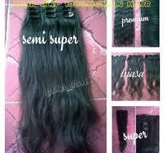 hair clip rambut asli jual hairclip 60cm 100 human hair rambut asli kualitas biasa