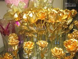 golden roses s day gift 24k gold foil gold roses
