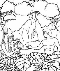 printable adam eve coloring pages kids cool2bkids