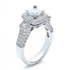 princess cut engagement rings with halo princess cut halo engagement ring vanna k 100048