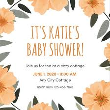 baby shower invitation templates canva