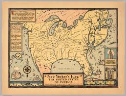 Map Of The United States With Compass by A New Yorker U0027s Idea Of The United States Of America David Rumsey
