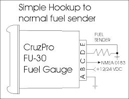 cruzpro fu60 digital fuel gauge consumption calculator and alarm