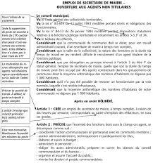 Annexe Iii Modèle D Arrêté Emportant Blâme Les Annexe Iv Modèle De Délibération Article 3 3 3 Secrétaire De