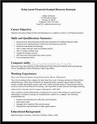 Sample Finance Resume Entry Level Resume Key Words For Peppapp