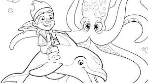 jake squid coloring pages disney junior
