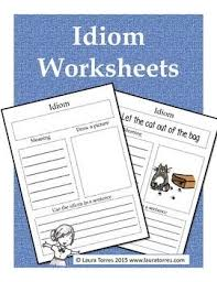 free idiom worksheets these idiom worksheets complement any
