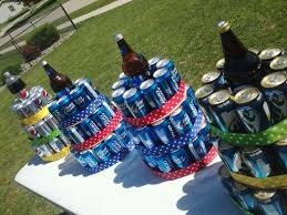Beer Centerpieces Ideas by 12 Best Beer Pop Cake Towers Images On Pinterest Gifts Beer Can