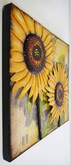 Homely Idea Sunflower Wall Art Decor Decals Stickers Metal Uk