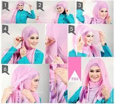 tutorial jilbab segi 4 untuk kebaya 20 cara memakai jilbab segi empat trendfashionterbaru com