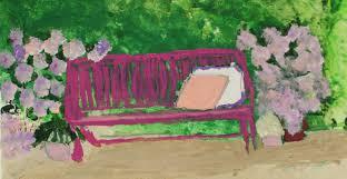 pink park bench u201d u2013 friendship heart gallery