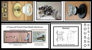 Old Knobs 24 Crystal Old Town French Door Knobs 12 Point Depression Crystal