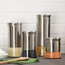 kitchen canisters stainless steel ksp silo flared canister set canister sets kitchen stuff and