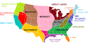 Florida Map East Coast The Revised Version Of The Us Separated Into Distinct Regions With