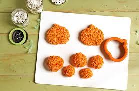 rice crispy treat pumpkins pumpkin rice krispie treat zombies the bearfoot baker